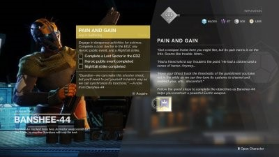 Destiny 2 Pain and Gain Exotic