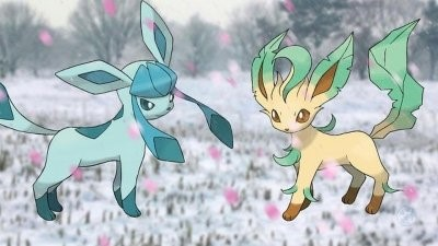 Leafeon and Glaceon in Pokemon Go
